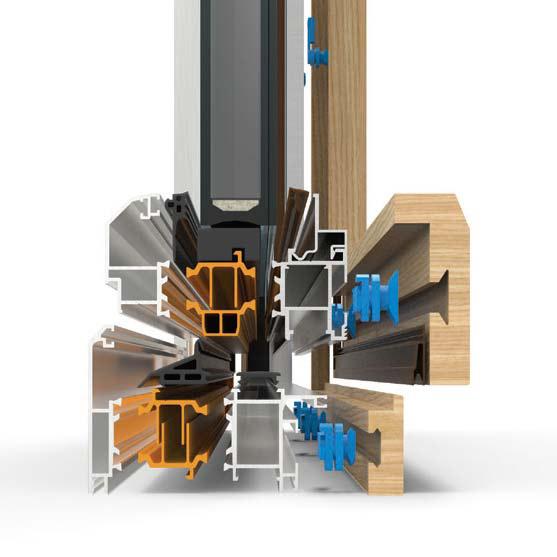 sezione serramenti alluminio/legno